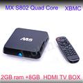 الصين الأعلى مبيعا الروبوت مربع التلفزيون mx m8 مجاناكامل 1080p الفيديو hd الروبوت box tv 4.2.2 الاباحية