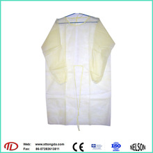 nonwoven medical disposable sterile surgical cpe patient gown
