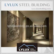 Prefab luxury hotel interior designing corridor area modern finish