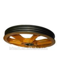2014 HOT!!! popular elevator traction sheave three wheel motorcycle alloy wheel