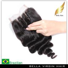 Natural Color Human Weave 3 Part silk base lace frontal closure