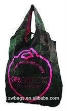 Eco reusable multi color shopping foldable nylon bag