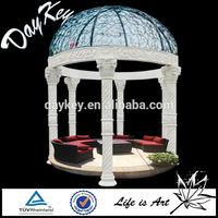 Hot selling outdoor stone gazebo for decor