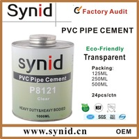 Hard or soft PVC pipe system glue