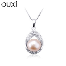 2014 New Arrival pearl cat pendant necklace made with swarovski elements Y30174