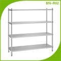 Bn-r02 elevato standard ripiano in acciaio inox per la cucina di stoccaggio