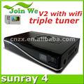 Heißer verkauf Sunray sr4 v2 triple tuner rev e motherboard Sunray 800se v2 wifi triple tuner, paypal!!!