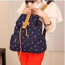 Korean fashion patterned canvas backpack , bag manufacturers China