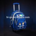 2014 lanzamiento de nuevos productos de moda popular mochila de la escuela en la rueda