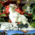Mi- dino tamaño de la vida de fibra de vidrio de los animales de simulación de cabra estatua