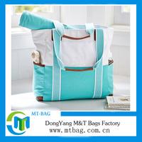 2014 Custom canvas beach bag with slipper set wholesale