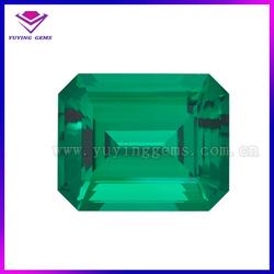 Competitive emerald price per carat lab created emerald made in China
