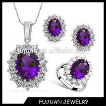 Fashion 2014 zircon&crystal jewelry set display