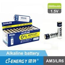 High capacity dry battery 2450mah Alkaline aa/lr6 am3 battery
