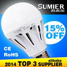 Low power 3w 5w 7w 9w 12w E27/B22 led lighting bulb 110v in zhongshan