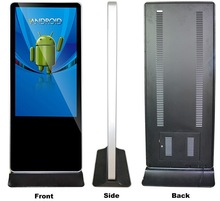 55 inch advertis equip Totem Outdoor Digital Signage Player,floor standing advertising kiosk price touch