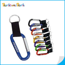 High Quality Aluminum Carabiner with lanyard and keyring