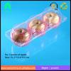 PET disposable plastic apple container box/ Disposable blister plastic 3pcs apple fruit packaging box