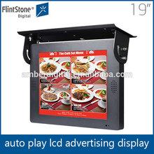 Flintstone 19 inch dvd screen car overhead, digital signage bus advertising player, anti-vibration multimedia tv car