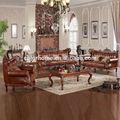 de alta calidad de italia de tapicería de cuero sofá seccional para el hotel