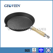 Preseasoned Cast Iron Fry Pan with Removable Handle