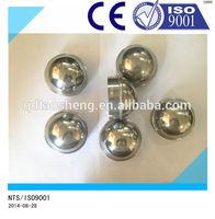 polished aluminum round metal fence post cap