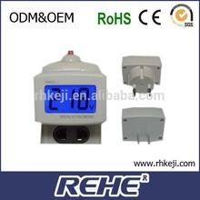 2014 newest Brand New Dm55-1 Blue Lcd Digital Volt Voltage Meter LedPlug-Typc digital sharp electronics middle east
