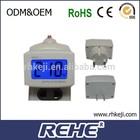 2014 newest Brand New Dm55-1 Blue Lcd Digital Volt Voltage Meter LedPlug-Typc digital sharp center industrial electronics