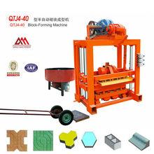 QTJ4-40 Fly ash&Concrete&Slag&Cement ash Brick Production Machine