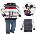 Moda meninos roupa dos miúdos t-shirt dos desenhos animados mickey mouse roupas