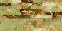 Water-jet Real Marble Mosaic Design Composite Marble Tiles