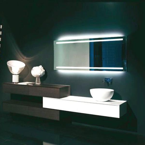illuminazione a led specchi senza cornice per il bagno-Specchio-Id ...