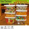 VacTainer easy open vacuum food container plastic seal container