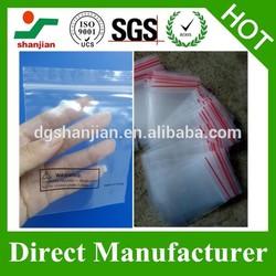 Clear Plastic zip lock bags