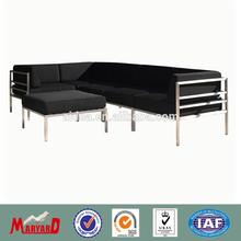 simple design stainless steel sofa set