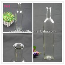750ml glass vodka bottle clear wine bottle