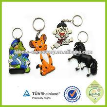 custom promotion gift 3D soft PVC rubber keychain/keyring keytags