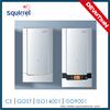 Sliding panel wall mounted gas combi boiler
