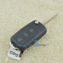 High quality 3 button HU66 car flip key for Seat Leon remote key