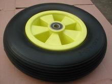 pu flat free polyurethane foam tire
