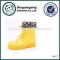 Mode chaud en caoutchouc bottes de pluie femmes bottes de pluie de pvc bottes d'hiver chaudes shoes|b- 817