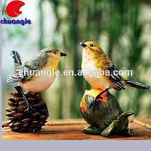 aves de resina de la figura de hogar y jardín decoración