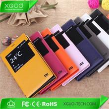 leather flip case for xiaomi redmi 1s , hongmi 1s flip case cover