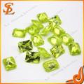 Prezzo all'ingrosso mela verde gemma sintetica zirconi
