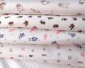 outono e inverno impresso camada intermediária de algodão de bambu jersey tecido de malha para roupas infantis