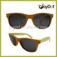 Orange color wooden sunglasses custom engraved wayfarer wood sunglasses wholesale