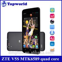 Hot Sale ZTE V5S quad core MTK6589 1G RAM 4G ROM 5.7 inch HD screen 3G mobile phone
