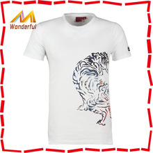 Promotional branded printed discount tshirts wholesale bodybuilding fitted good quality for men
