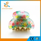 Hair accessory wholesales classical Floral patterm acrylic Mini hair claw clip
