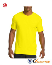 Promotional polyester/cotton breathable mens sports t-shirt